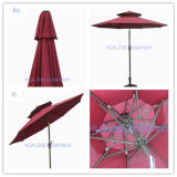 10FT Double Roof Umbrella Outdoor Garden Umbrella
