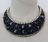 Lady Fashion Costume Jewelry Bead Crystal Choker Collar Necklace (JE0126)