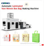 Leader Non Woven Box Bag Making Machine with Online Handle Attachment