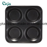 4cup Carbon Steel Model Non-Stick Round Muffin Pan
