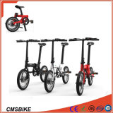 16 Inch Mini Folding Electric Bike with Hidden Battery E Bike