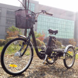 """24"""" 3 Wheel Adult Electric Cargo Tricycle with Cabin"""
