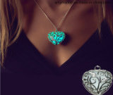 Luminous Pendant Peach Hearts Crystal Diamond Necklace Pendant