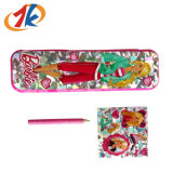 Beautiful Plastic Princess Pencil Case Stationery with Sticker