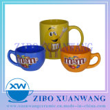 M Bean Ceramic Coffee Mug with Variety Color and Customized Shape for Promotion in Good Price