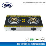 Stainless Steel Body Glass Surface Gas Stove
