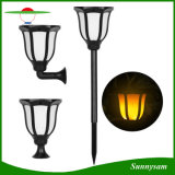 Three Installations Outdoor Garden Decorative Lighting 99 LED Solar Flickering Flame Light