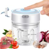Electric Mini Garlic Chopper, Cordless Food Processor Mincer Blender Mixer Portable Electric Garlic Mincer Food Slicer and Powerful Chopper for Baby