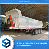 China Manufacturer 3 Axle Semi Tipper Trailer for Tractors Front Hydraulic Cylinder Side Tipper Dump Trailer