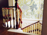 Indoor Matel Hollow out Decorative Started Stair Pillar