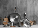 Wholesale Titanium Stainless Steel Non Stick Kitchen Cooking Cookware (Pan and Pot)