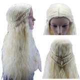 Cosplay Wigs White Hair Synthetic Lace Front Wig for Women