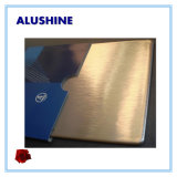Classical 4mm Brushed Palm Copper Aluminum Composite Panel ACP