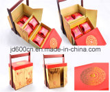 Wholesale OEM Luxury Special Shape Mooncake Packaging Box with Wooden Handle