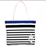 Fashion Women Canvas Stripe Handbag Shoulder Bag Casual Shopping Bag