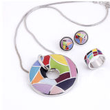 High Polishment 925 Silver Enamel Jewelry Set