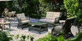 Wicker Sofa Outdoor Rattan Furniture Chair Table Wicker Furniture Rattan Furniture for Wicker Furniture (Hz-BT105)