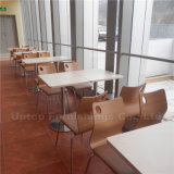 Commercial Staff Wooden Fast Food Canteen Furniture (SP-CS262)