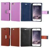 Metal Button Card Slot Leather Cell Phone Case Cover