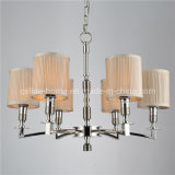 Wrought Iron Chandeliers with Fabric Shade (SL2013-6)