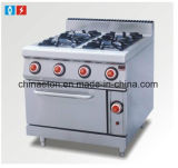Wholesale Price Commerical Gas Range with 4-Burner & Gas Oven Ett-Tq-4