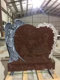 2018 Hot Sale New Design Hand Carved Stone Monument& Headstone&Gravestone with Heart Sharp