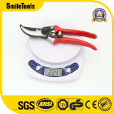All Steel Bypass Pruning Shears with Red Color Handle