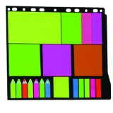 Student Portable Sticky Custom Neon Notepad, Office Supply Memo Pad