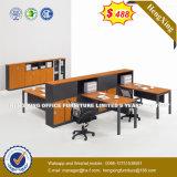 Stock Lots Hutch Cabinets Maple Color Office Desk (HX-UN024)