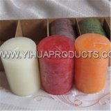 Pillar Candle of Rustic Candle for Party Using