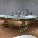Luxury Rose Gold Painting Stainless Steel Dining Table Yc-St29
