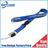 Cheap Custom Logo Neck Strap Polyester Woven Nylon Printing Sublimation Ribbon Heat Transfer Lanyard