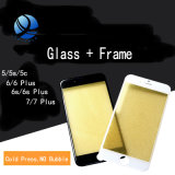 3 in 1 Cold Press Front Screen Outer Glass with Frame Oca for iPhone 7 6 6s Plus Screen Replacement