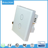 Smart Z-Wave 2 Gang Touch Switch for Home