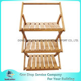 3tiers Bamboo Folding Wooden Flower Shelf Bamboo Display Rack