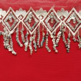 Stock Sequin Embroidery Lace with Competitive Price