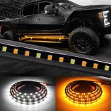 Truck LED Running Board Lights Amber Side Marker Kit 70inch 216 LED Bar Bed Light Strip for Pickup Trucks SUV Cars Work Van (Board 1070)