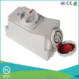 Multi-Current IP67 Female Socket with Switch and Mechanical Interlock