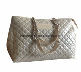 Fashion Designer Diamond Quilted PU Women′s Tote Handbag Bags