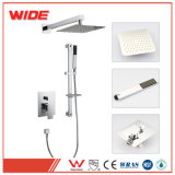 Italy Design Single Lever Concealed Wall Mount Shower Faucet Set with Hand Shower