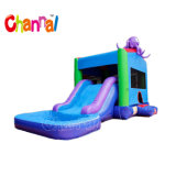 Octopus Inflatable Water Slide Combo Inflatable Bouce Castle
