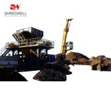 Metal Recycling Machine to Shred Waste Car