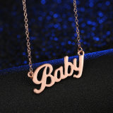 Baby Letter Choker Necklace Pendant Chain Popular Jewelry Gift