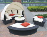 Wicker Rattan Sunbed Outdoor Sun Lounge Daybed Pool Laybed Patio Furniture Bp-602