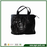 Luxury Black Canvas Handbag with Beautiful Sequins