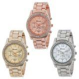Hot Steel Diamond Watch Stainless Steel Band Watch Geneva Geneva Alloy Watch