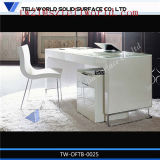 Design ISO Standard Premium Table Set Size White High Gloss Corian Artificial Marble Top Italian Styles Modern Design Custom Made Office Table