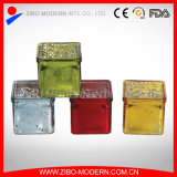 Hot Selling Promotional Clear Square Glass Candle Holder