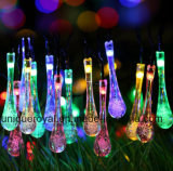 Solar String Lights, 20 LED Sogrand Outdoor Garden Decorative Light Landscape Lighting Colorful Waterdrop for Party Patio Yard Festival Lawn