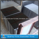 Polished Mongolia Black Granite/China Black Flooring Tiles